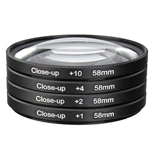 ILS - Universal 58mm Makro Lens Kit Close Up Filter 1 +2 +4 +10 voor 58mm camera Lens