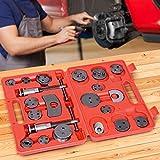 Jago Coffret Set Repousse Piston d'Étrier de Frein | Kit d'Outils 22 Pièces, Remplacement de Disque, Mâchoire ou Plaquettes de Frein, Adaptateurs inclus