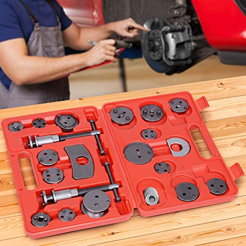 Jago Coffret Set Repousse Piston d'trier de Frein | Kit d'Outils 22 Pices, Remplacement de Disque, Mchoire ou Plaquettes de Frein, Adaptateurs inclus