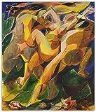 Arte de la lona pintura al óleo cartel de arte impresión decorativa imagen decoración de la pared decoración del hogar-40cm x 60cmx1 sin marco
