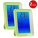 HouswillTM Hygrometer für den Innenbereich, digital, mit Jumbo-Touchscreen und Hintergrundbeleuchtung, Temperatur, Luftfeuchtigkeitsmesser für Kinder, Zuhause, Auto, Büro, etc.