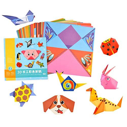 Yooyg Kit de modelo de papel origami 3D, papel de origami creativo animal/vida origami papel plegable, kit de origami DIY para la escuela en casa