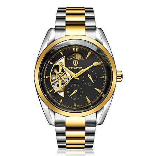 TEVISE 795a Business Style Uomo scava fuori orologio da polso meccanico con...