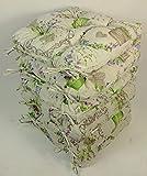 Rattani Set 6 x Stuhlkissen/Sitzkissen Klara 42 x 42 cm Dicke 8 cm, Stoff Mirha Leinen Green - Made...
