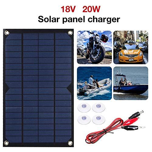 zaote 20 Watt Flexibele Zonnepaneel Draagbaar Enkele kristallijne zonnepaneel oplader, Ultra Lichtgewicht, 5 V USB 2.0 poort voor RV, Auto, Boot, Cabine, Tent nobel