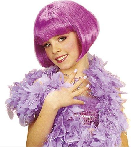 LES COLIS NOIRS LCN Perruque Courte Cabaret Violette Fille - Deguisement - Halloween - 539