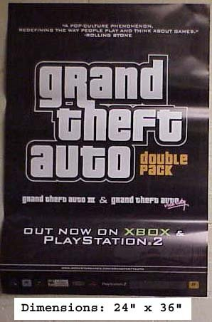 Grand Theft AUTO Double Pack poster. The poster is not sold by Grand Theft AUTO Double Pack