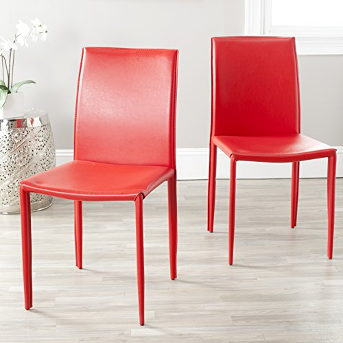Safavieh Home Collection Karna Modern Red Dining Chair (Set of 2)