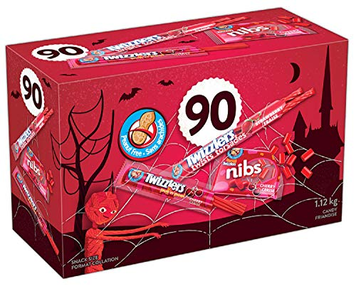 TWIZZLERS Licorice Halloween Candy Bulk Assortment, 90 Count