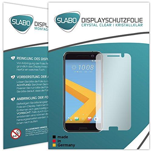 Slabo 4 x Bildschirmschutzfolie für HTC 10 Bildschirmfolie Schutzfolie Folie Zubehör Crystal Clear KLAR