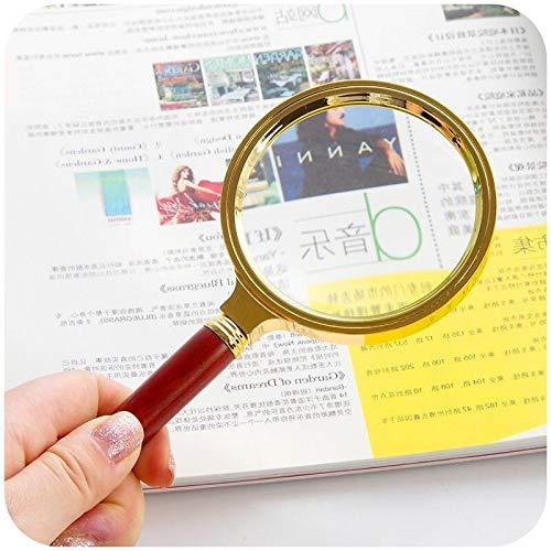 QINGJIA Multi-función de Lupa de Mano 10X Vidrio óptico de 80 mm de Joyas de Oro Ojo Lupa Lectura de periódicos Lectura/Obeservación/Reparación
