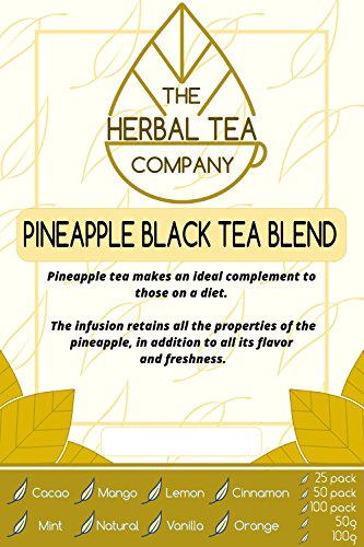 Goats Rue Herb Pineapple Black Tea Blend Tea Bags with Natural Flavour 25 Pack