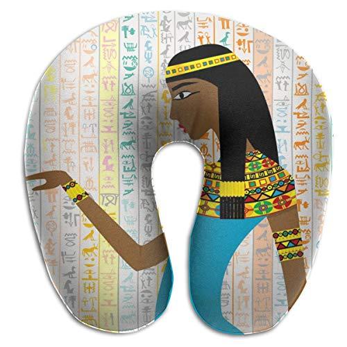 Almohada en Forma de U, Cuello, Mujer egipcia, Viaje, Almohada Multifuncional, Coche, avión