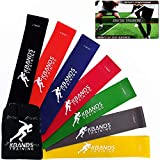 Kbands Infinity Rubber Loop Mini Bands (7 Levels of Ankle and Thigh Exercise Bands) Often Used for Speed and Agility, Pilates, Yoga, Strength Training.