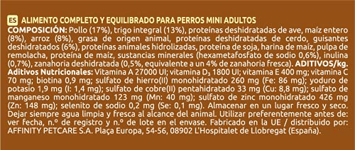 Ultima Cibo per Cani Adulti Mini con Pollo, Confezione da 3 x 3 kg, Totale 9 kg