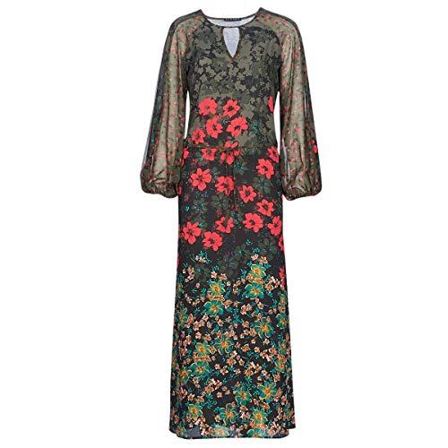 Sisley Fasin Vestiti Femmes Multicolore - IT 40 - Abiti Lunghi
