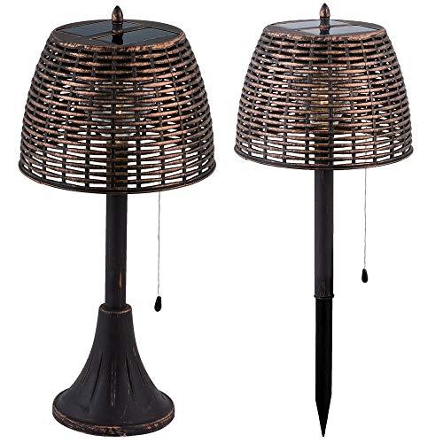 LED Solar Außen Tisch Steh Leuchte Erdspieß Steck Lampe Garten Dekoration Beleuchtung Globo 33005