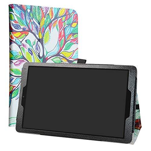 LiuShan Alcatel A3 (10) WiFi hülle, Folding PU Leder Tasche Hülle Case mit Ständer für 10.0
