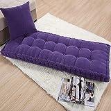 AINIYUE Gartenstuhl Kissen, einfarbig Lange Dicke Sitzkissen, anpassbare Sitzbank Teppich Sitzmatte, für Home Office Garten Pad 55x165cm lila-8