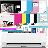 Silhouette Cameo 4 White Bundle with Vinyl Starter Kit, Heat Transfer Starter Kit, 2 Autoblade 2, 24 Pack of Pens, CC Vinyl Tool Kit, 120, and Access to Ebooks, Tutorials, & Classes