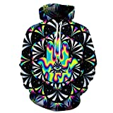 Unisex 3D Printed Pullover Hooded Trippy...
