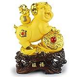 Sculpture de cochon porte-bonheur, artisanat d'art classique des animaux Feng Shui, cadeaux de collection de statue collection...