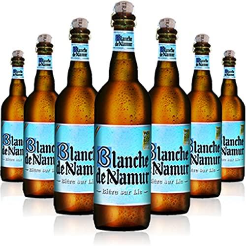 Blanche de Namur 6 Bottiglie Birra 75 cl Belgio Luppolo Malto Birra Bianca, Birra Blanche de Namur 6 Bottiglie - 4,5 Litri