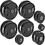 C.P. Sports Olympiascheiben - Par de discos de pesas de goma, 50/51 mm de diámetro, 1 par de discos de 0,5 kg - 30 kg, discos de contorno, pesas para pesas con agujeros de agarre, 5 kg