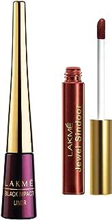 Lakme 9 to 5 Impact Eye Liner, Black, 3.5ml & Lakme Jewel Sindoor, Maroon, 4.5ml