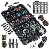 Goture Assortiment d'accessoires pour pêche à la carpe Boîte avec hameçons, tubes en caoutchouc, émerillons, perles, manches, bouchons, 381-Fishing Tackle Accessories, Hooks Size 2 #