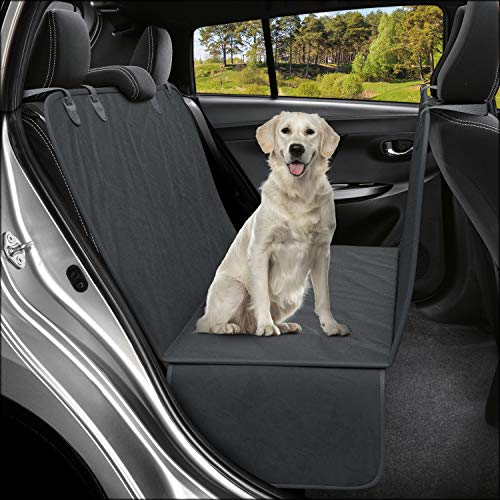 Active Pets Dog Back Seat Cover Protector Waterproof Scratchproof Hammock for Dogs Backseat Protection Against Dirt and Pet Fur Durable Pets Seat Covers for Truck's & SUVs (XL Black)