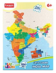 Easy way to teach states of India to kids - Map of India puzzle