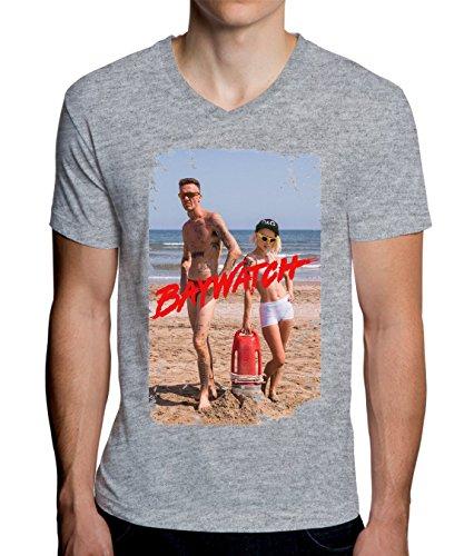 Die Antwoord Baywatchers Design Men's V-Neck T-Shirt Large