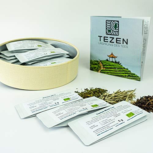 Tee Probierset mit 20 hochwertigen Tees und ausführlichem Handbuch | Ideal als Tee Geschenk in schöner Geschenkdose