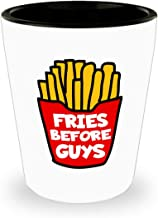Gift for Fries Shot Glass Gift, Freeky Fries Gift, Fries Before Guys, Family Guy Shot Glass Gift, Motivational Quote Shot Glass Gift