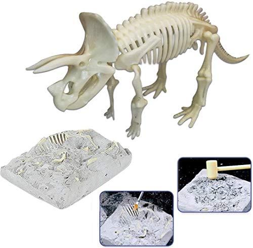 HCFSUK 3D Puzzle Dinosaur Fossil Skeleton Figure Toy para niños Juego de Huesos de Dinosaurio simulado Educativo Modelo 3D