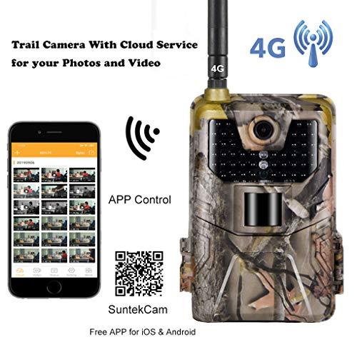 YTLJJ APP 4G Wildkamera Fotofalle 16MP 1080P mit Cloud-Service und Handy übertragung, Jagdkamera GSM GPRS Low-Glow 940nm IR-LEDs, Infrarot-Nachtsicht 20m, IP65 wasserdichte, 2,0-Zoll-Bildschirm