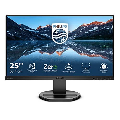 Philips 252B9 - 25 Zoll WUXGA Monitor, höhenverstellbar (1900x1200, 60 Hz, VGA, DVI, HDMI, BildschirmPort, USB Hub) schwarz