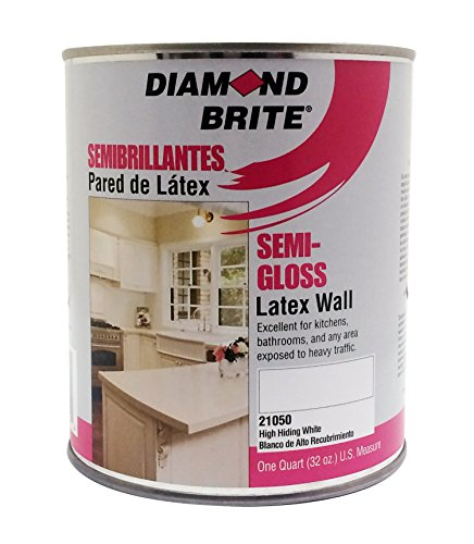 Diamond Brite Paint 21050 1 Quart Semi Gloss Latex Paint High Hiding White
