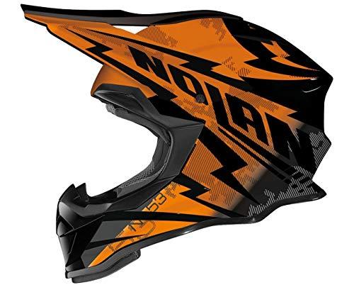 Nolan N53 Comp MX-Helm, Farbe schwarz-orange, Größe L (59/60)