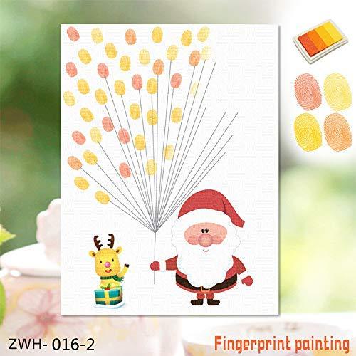 DJY-JY 3D Etiqueta engomada 3D Huellas Dactilares Amazon explosión Creativa de Navidad Viejo Creativo Dedo de la Huella Digital la decoración del hogar Pintura, D
