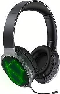 BINDEN Audífonos Gamer Inalámbricos A799BL Auriculares Bluetooth Plegables Sonido Estéreo Envolvente con Micrófono Desmontable Wireless Gaming Headset RGB hasta 14 Horas, ABS Negro
