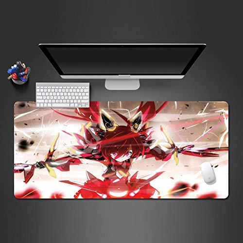 DYYTMTA Tappetino Mouse Gaming - Grande Mouse Pad XXL 900x400mm Ragazza di animazione rossa Tappetino per Mouse da Gioco, Base in Gomma Antiscivolo Tappetini Mouse per Computer e Laptop