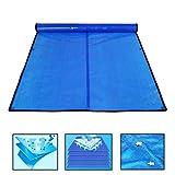 QIANDA Cobertor Piscina Cubierta De Invierno, Rectángulo Película Aislante Azul Burbuja Redondo Lona Alquitranada Anti-evaporación Protección UV Mantener El Agua Caliente (Size : 620 x 325cm)