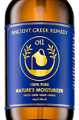 Organic Blend of Olive, Lavender, Almond and Grapeseed oils with Vitamin E. Day and night Moisturizer for Skin, Dry Hair, Face, Scalp, Foot, Cuticle and Nail Care. Natural Body oil for Men and Women by Bliss Of Greece