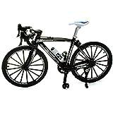 alles-meine.de GmbH 2 Stück _ große - Fahrräder / Bike - E-Bike - schwarz & weiß - 18 cm - stabiles Metall - Modell Maßstab: 1:10 - Deko & Spielen - Dekofahrrad - für Kinder & Er.. -