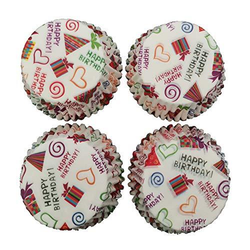iKulilky - Moldes de Papel para Magdalenas, Resistente a la presión, 100 Paquetes para postres