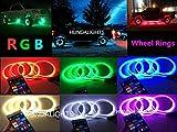 IP68 15.5' x4PCS Set RGB Shift Changing Wheel Ring Rim...
