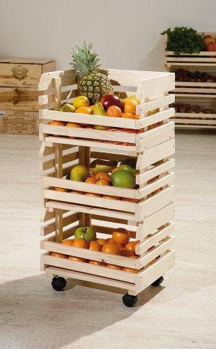 Inter Link Fruttino 60100400 Jinete de Frutas 37 x 30 x 80 cm, Madera, 37 x 30 x 80H cm