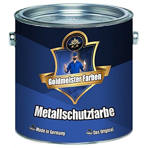 Goldmeister Farben Metallschutzfarbe hochwertiger Lack für Metalluntergründen Metallschutzlack Metall-Lack (2,5 L, Anthrazitgrau (RAL 7016))